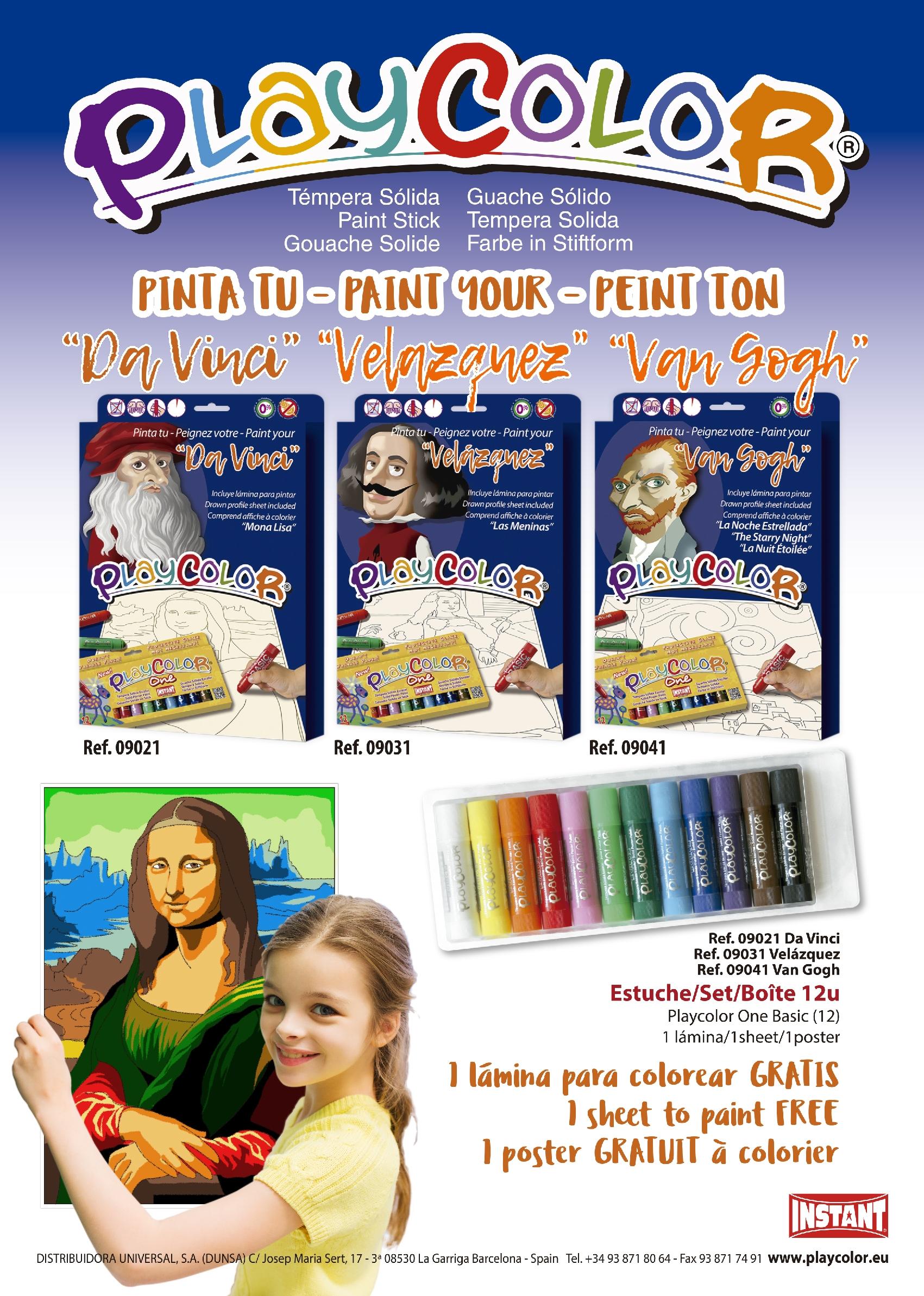 Pinta tu artista con PLAYCOLOR PINTORES