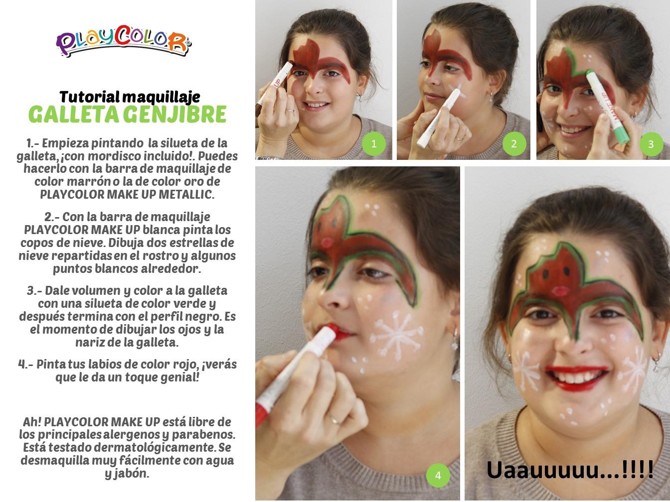 Maquillaje infantil de galleta de jengibre