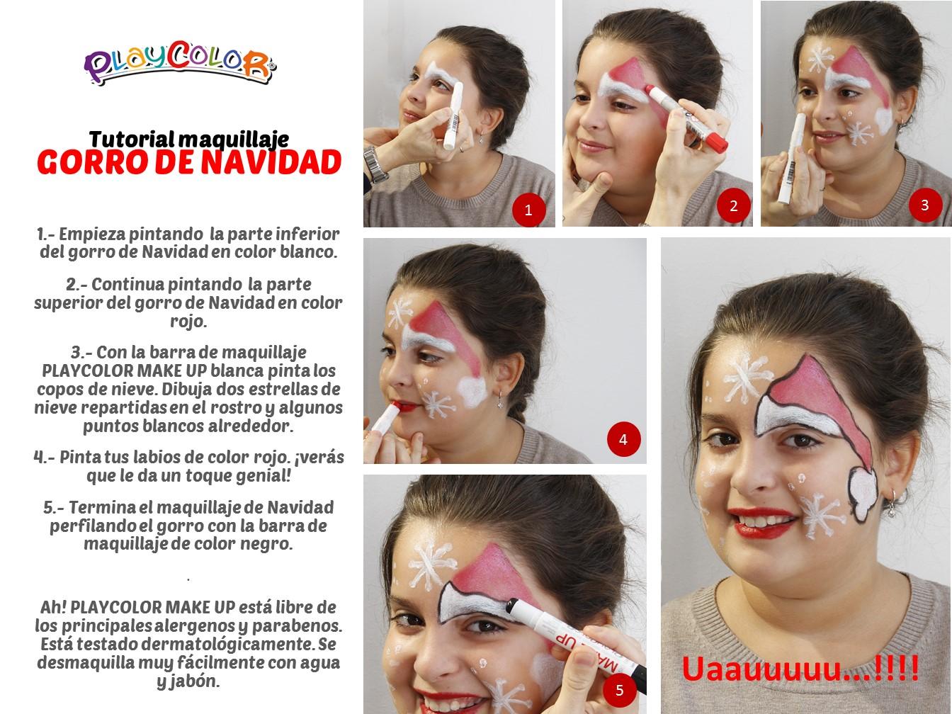 Maquillaje infantil de Navidad