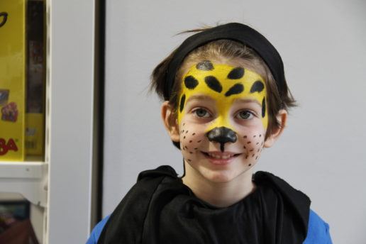 maquillaje leopardo resultado final
