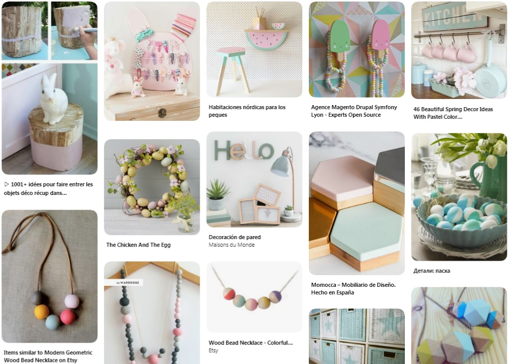 ideas manualidades tonos pastel